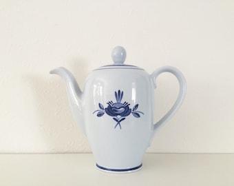 Vintage Arabia Blue Rose Coffee Pot