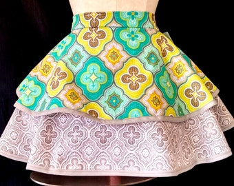 Two Tier Apron Moroccan Print