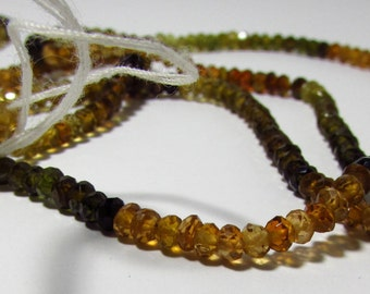 Natural Petro Tourmaline Hand Faceted Rondelle Beads 3mm