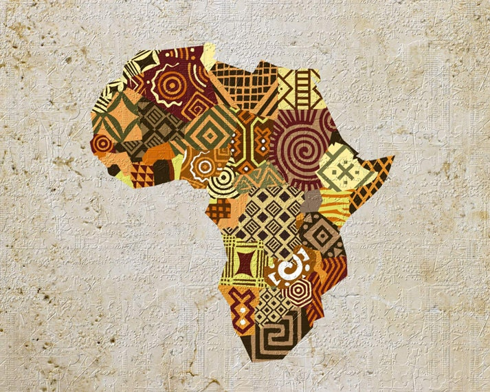 africa map for printing