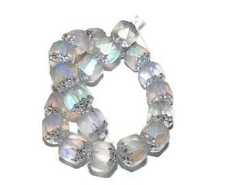 Fire Polished Czech Glass Lantern Beads  - 8 mm - 10 beads (111)