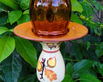Garden Totem - Amber Glass