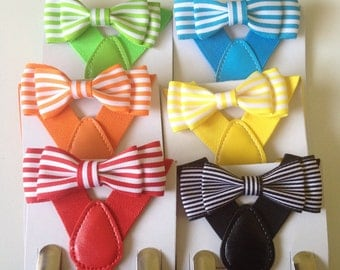 Striped Bow tie Red bowtie Braces Blue bow ties Green Toddler Necktie Black Mens ties Wedding Ring Bearer Outfit birthday Cake Smash Photo