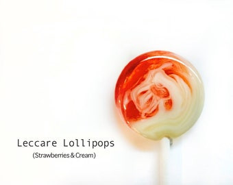 Fall Swirl Lollipops  // 6 Strawberries and Cream // Sweet Treat  // Red and White Candy // Summer Wedding Favors // Winter Wedding