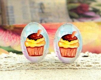 8pcs (10x14mm\13x18mm) 4pcs (18x25mm) 2pcs (20x30mm\30x40mm) Handmade Photo Glass Cabs Cabochons