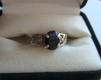 Sapphire Lattice Ring