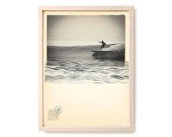 "Limited Edition Surf Art Print ""Liquid Pull"" - Mixed Media"