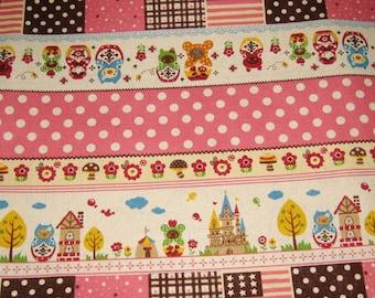 Kawaii Fairy Tale Japanese  Cotton Fabric, Fabric By The Yard, Kawaii Fabric