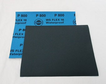 "800 Grit  Wet / Dry Sand Paper  9""x11"" Sheets Package  Of 10"