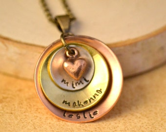 personalized mimi, mimi jewelry, mimi necklace, mimi gift, custom name pendant