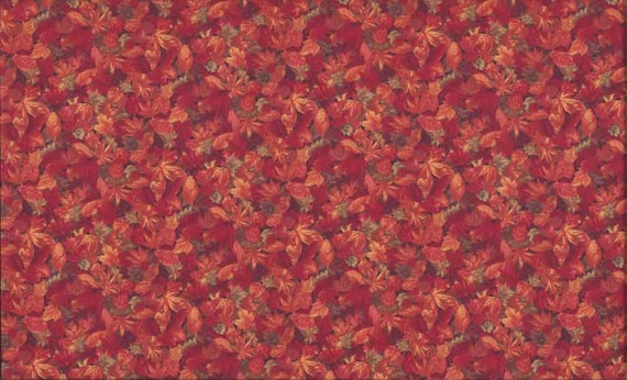 Fat Quarter Autumn (Fall) Leaves Cotton Quilting Fabric ...
