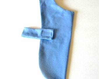 Small Dog Cat Jersey Shirt Dog Coat, Sample for Custom Orders to Fit Toy or Teacup, Air Force Blue or Dark Green , Made to Order