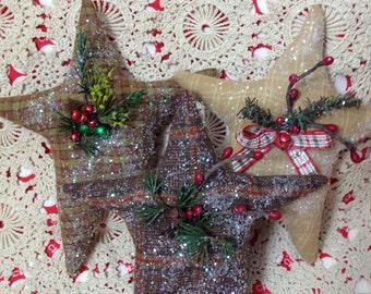 Primitjve Christmas star decoration