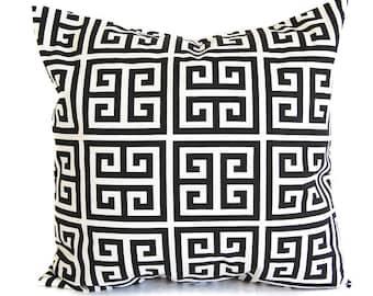 Decorative throw pillow cushion cover black and white greek key modern decor pillow sham cushion cover modern home decor