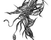 Spoctopus (Space- Octopus) - Art Print