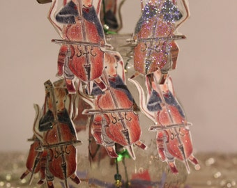 Mice Musicians Magic Wands, cello playing mice, party decorations
