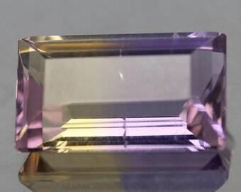 7.15 Carat Natural Ametrine Octagon Purple Gold Gemstones Bolivia
