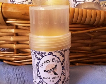 Honey Bee Shea Beeswax Solid Lotion Twist Up Tubes Vegetarian Amaretto