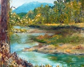 Original oil painting 8 x 10 Clark Fork River...Montana
