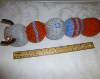 Toy Caterpillar - Hand Knit Toy - Childs Toy