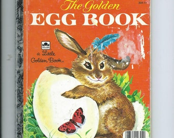 Vtg. Little Golden Book The Golden Egg Book Z Print First Ed. of 1975 Ed. One of the Classic LGB Sweet Tale of Bunny and Chick Neat Illus.