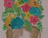 Spring Bouquet - ACEO Original -CE team AOE team