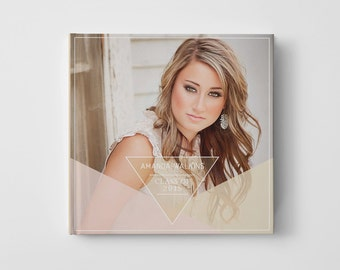 Photo Book Cover Template for Photographers, Senior Album Templates, Senior Photo Book Cover Template, Senior Templates - BC106