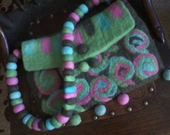 SALE Needle Felted Bag