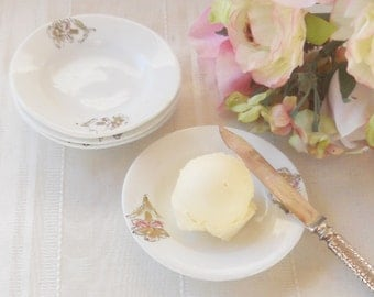 Vintage Butter Pat Dishes, Set of 4, Tea Party, Wedding, Antique, Bridesmaid Gift Inspired, Small Plates