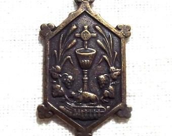 Blessed Sacrament Holy Eucharist Agnus Dei Lamb of God Medal Catholic Rosary Supply Part