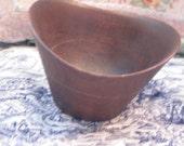 Pretty Different Oval Shaped Wooden Bowl,Vintage Bowl, Mortar and Pestle -Spices Grinder,Medicine Grinder, Dry Herbs,  :)S
