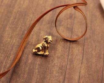 Avon My Favorite Pet pin gold tone lovable mutt  dog pin