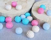 20pcs 13mm (0.51 inch) Handmade round crochet beads (3)