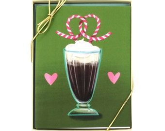 Soda Fountain Love - Set of 8 Cards