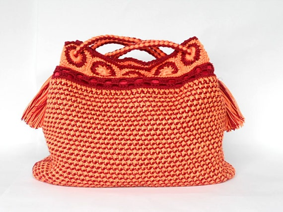 Crochet bag PDF pattern Sol y amor tunisian crochet