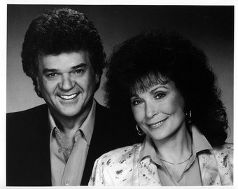 Conway Twitty and Loretta Lynn Publicity Photo 8 by 10 Inches
