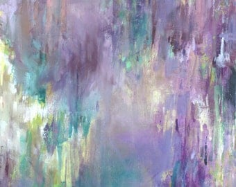 Modern Art Print-- Archival Print of Original Painting--Wisteria Spring (Part 3)