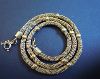 Gold Chainmail Choker Necklace Vintage