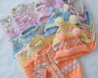 Knit Baby Girl and Baby Boy Sweater Cardigan Jacket