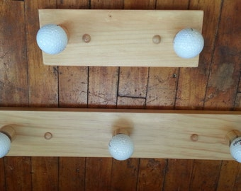 Golf Ball Coat Rack - Set of 2