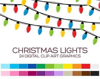 Christmas Clipart Clip Art Christmas Digital Clipart Digital Christmas Light Clipart Frame Clipart Bunting Clipart Border Clipart - A90017