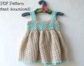 Crochet dress pattern, crochet baby dress pattern, lacy summer dress, pattern no 117