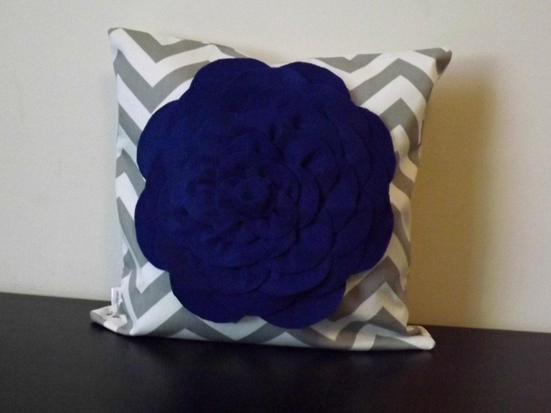 Cobalt Blue Throw Pillow Covers : Decorative Throw Pillow Cover Cobalt Blue by JuliaSherryHome