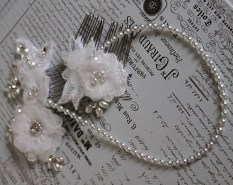 forehead band 1920s style headdress great gatsby style bridal pearl forehead headband brow band bridal headdress bun wrap.