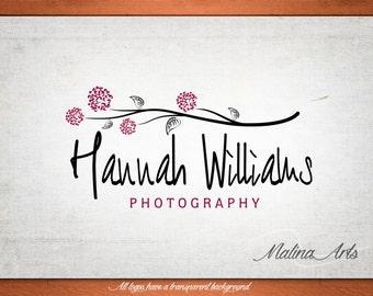 Premade logo design. Watermark. Flower logo. Vintage logo. Logo design. Logo BUY 2 and GET 1 FREE!!!