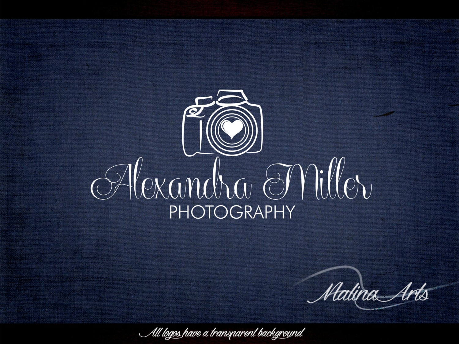 Photography logo design and photography watermark. Camera Logo