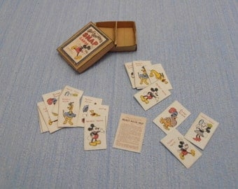 Gaël Miniature  Vintage game 25 Walt Disney's Silly Symphony Dollhouse Miniature child game Accessory toy, Handmade