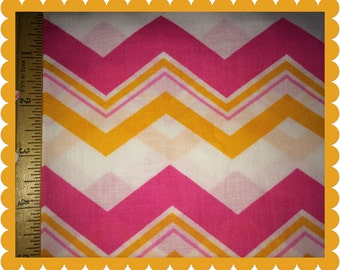 Pink, White, and Tangerine Chevron
