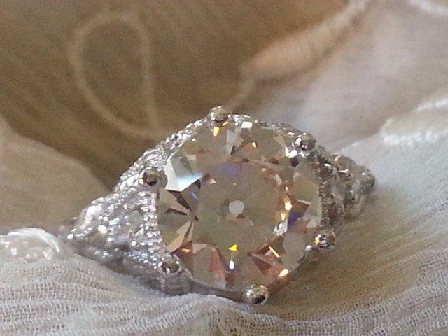 Antique Engagement Ring Victorian Style Engagement by Lifespirals