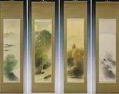 Japanese Fine Art Painting Wall Hanging Scroll Four Seasons Landscape Kakejiku – 130938